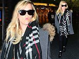 Reese Witherspoon was spotted touching down at the airport in New York City, NY on January 12, 2015. She was stylish in all black, with a grey coat and plaid scarf. She wore sunglasses as she signed autographs for fans before heading outside. She was engulfed by smoke near her car, but she walked away unscathed.  Pictured: Reese Witherspoon Ref: SPL926495  120115   Picture by: 247PapsTV / Splash News  Splash News and Pictures Los Angeles: 310-821-2666 New York: 212-619-2666 London: 870-934-2666 photodesk@splashnews.com