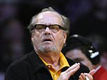 Actor Jack Nicholson watches the Los Angeles Lakers play the Portland Trailblazers during their NBA basketball game in Los Angeles January 4, 2009.  REUTERS/Lucy Nicholson (UNITED STATES)