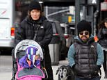 Peter Dinklage and family take a Sunday stroll with their dog in NYC\nJanuary 11, 2015 X17online.com\nOK FOR WEB SITE USAGE.\nAny quieries please call Alasdair or Gary on office 0034 966 713 949/926 or mibile Gary 0034 686 421 720 or Alasdair on 0034 630 576 519