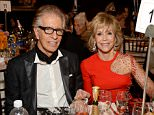 BEVERLY HILLS, CA - JANUARY 11: Record Producer Richard Perry (L) and Jane Fonda attend the 72nd Annual Golden Globe Awards cocktail party at The Beverly Hilton Hotel on January 11, 2015 in Beverly Hills, California.  (Photo by Michael Kovac/Getty Images for Moet & Chandon)