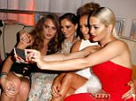 BEVERLY HILLS, CA - JANUARY 11:  (L-R) Model Cara Delevingne, designer Georgina Chapman, entertainer Jennifer Lopez and singer Rita Ora attend The Weinstein Company & Netflix's 2015 Golden Globes After Party presented by FIJI Water, Lexus, Laura Mercier and Marie Claire at The Beverly Hilton Hotel on January 11, 2015 in Beverly Hills, California.  (Photo by Jeff Vespa/Getty Images for TWC)