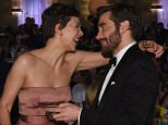 BEVERLY HILLS, CA - JANUARY 11:  72nd ANNUAL GOLDEN GLOBE AWARDS -- Pictured: (l-r) Maggie Gyllenhaal and Jake Gyllenhaal at the 72nd Annual Golden Globe Awards held at the Beverly Hilton Hotel on January 11, 2015.  (Photo by Larry Busacca/NBC/NBC via Getty Images)