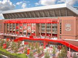 Liverpool begin stadium development work on Main Stand with Anfield capacity to increase by 8,500  Read more: http://www.dailymail.co.uk/sport/article-2865451/Liverpool-begin-stadium-development-work-extra-8-500-seats-added-main-stand-Anfield-increase-capacity.html#ixzz3OnGEwK2A  Follow us: @MailOnline on Twitter | DailyMail on Facebook