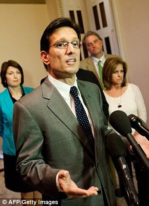 US House Majority Leader Eric Cantor
