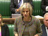 Home Secretary Theresa May makes a statement on the Paris shootings that happened last week, in the House of Commons, London. PRESS ASSOCIATION Photo. Picture date: Wednesday January 14, 2015. See PA story POLICE Magazine. Photo credit should read: PA Wire