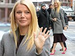 January 14, 2015: Gwyneth Paltrow is seen arriving at the ABC Studios to make an appearance at the Good Morning America show this morning in New York City.\nMandatory Credit: Elder Ordonez/INFphoto.com Ref: infusny-160
