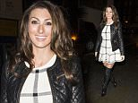 **EXCLUSIVE IMAGES ** LUISA ZISSMAN AND SAM FAIERS SEEN OUT FOR DINNER AT THE CHILTERN FIREHOUSE IN LONDON, SAM WAS SEEN WEARING A COCA COLA TOP WHILE LUISA OPTED FOR A SHORT SKATER DRESS AND THIGH HIGH BOOTS!! - TUESDAY 13TH JANUARY 2015 - RA-PIX.CO.UK - 07774 321240 - CONTACT ASHLEY MOORE - ASH@AJMIMAGES.CO.UK