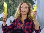 Alicia Douvall banana Credit: Channel 5