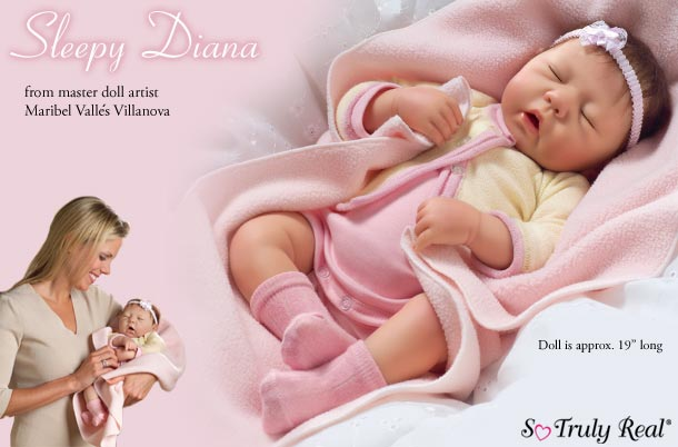 Dolls-Sleepy Diana Vinyl Doll
