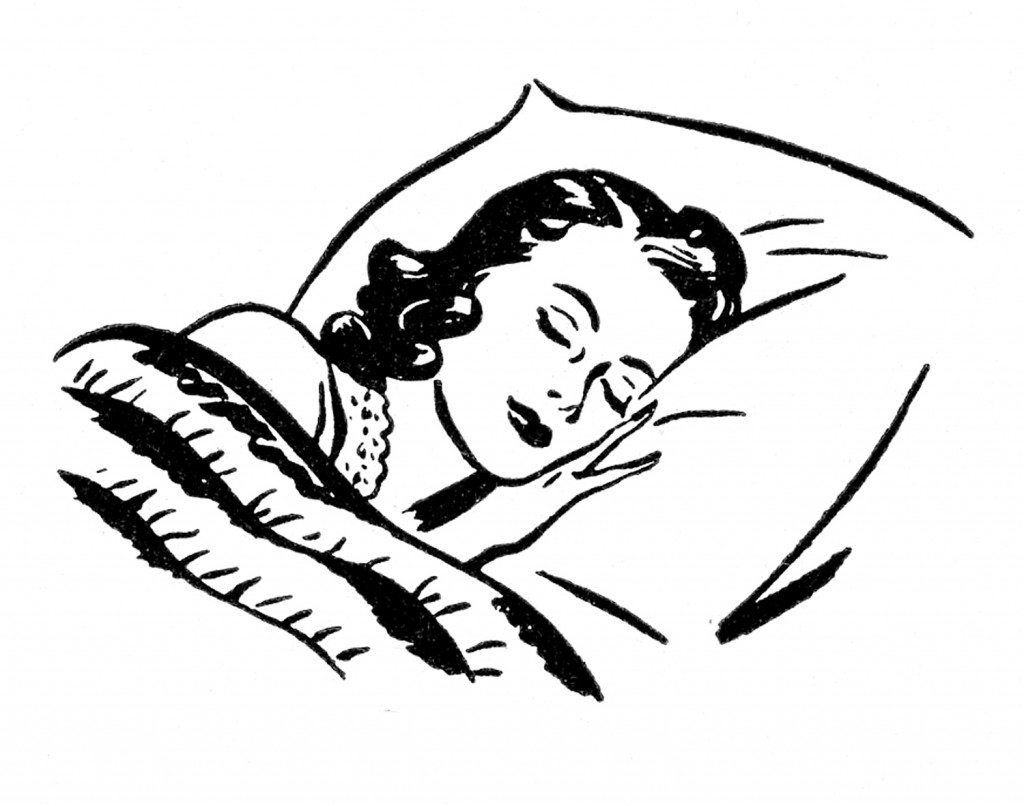 Sleeping Lady Retro Images