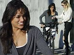 Michelle Rodriguez shows off her bike to a pretty girl in the street of Venice Beach.\n\nPictured: Michelle Rodriguez\nRef: SPL929664  160115  \nPicture by: JD / Splash News\n\nSplash News and Pictures\nLos Angeles: 310-821-2666\nNew York: 212-619-2666\nLondon: 870-934-2666\nphotodesk@splashnews.com\n