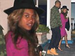 West Hollywood, CA - Jay Z and Beyonce step out for a dinner date in West Hollywood as rumors swirl that the couple is pregnant with baby number two.  Suspicions were raised after Beyonce Instagram  d a puzzling picture, where she was buried in sand with an apparent baby bump near her belly. Additional photos of Beyonce at a basketball game added fuel to the fire after it appeared the pop star had a slight bump. AKM-GSI          January 15, 2015 To License These Photos, Please Contact : Steve Ginsburg (310) 505-8447 (323) 423-9397 steve@akmgsi.com sales@akmgsi.com or Maria Buda (917) 242-1505 mbuda@akmgsi.com ginsburgspalyinc@gmail.com
