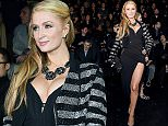 MILAN, ITALY - JANUARY 17:  Paris Hilton attends the Philipp Plein Show during the Milan Menswear Fashion Week Fall Winter 2015/2016 on January 17, 2015 in Milan, Italy.  (Photo by Jacopo Raule/Getty Images)