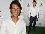 MELBOURNE, AUSTRALIA - JANUARY 18:  Rafael Nadal of Spain arrives for Crown's IMG@23 Tennis Players' Party at Crown Entertainment Complex on January 18, 2015 in Melbourne, Australia.  (Photo by Graham Denholm/Getty Images)