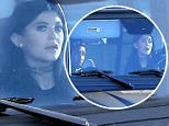 Please contact X17 before any use of these exclusive photos - x17@x17agency.com   PREMIUM EXCLUSIVE - Kylie Jenner, reportedly pregnant, cruising with boyfriend Tyga riding shotgun in her Mercedes-Benz SUV, on Friday, January 16, 2015 X17online.com