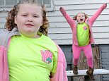 EXCLUSIVE: Here's Alana 'Honey Boo Boo' Thompson looking happy and carefree at home in Georgia, despite her family's much-publicized woes. Parents 'Mama June' Shannon and Mike 'Sugar Bear' Thompson may have broken up once again amid cheating allegations, but the nine-year-old reality TV phenomenon was her usual upbeat self as she played in the front garden of their rural McIntyre home on Saturday (jan 17). Days earlier, her father moved out of the house that served as a backdrop for their now-axed TLC show 'Here Comes Honey Boo Boo' and rented a new mobile home nearby, while Alana, her mother and sister Lauryn 'Pumpkin' prepare to uproot to their new upscale four-bedroom two hours away in Hampton.\nPics taken Jan 17th.\n\nPictured: Alana Thompson aka Honey Boo Boo\nRef: SPL930269  170115   EXCLUSIVE\nPicture by: Jason Winslow / Splash News\n\nSplash News and Pictures\nLos Angeles: 310-821-2666\nNew York: 212-619-2666\nLondon: 870-934-266