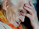 An elderly woman suffering from Alzheimer's disease, in a residential home specialising in the care of people with dementia. BJ1FM4