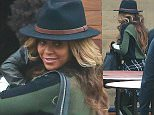Please contact X17 before any use of these exclusive photos - x17@x17agency.com   Pregnant or non pregnant Beyonce Knowles and Kay Z with adorable daughter Blue Ivy stop at sushi restaurant Nobu on the beach in Malibu  jan 18, 2015 X17online.com