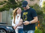 UK CLIENTS MUST CREDIT: AKM-GSI ONLY EXCLUSIVE: Reportedly engaged couple Sofia Vergara and Joe Manganiello are happy as can be after a couples session of Transcendental Meditation together in West Hollywood. The 'Magic Mike XXL' star and the 'Modern Family' actress walked arm in arm back to their car after the end of their session.  Pictured: Sofia Vergara and Joe Manganiello Ref: SPL930690  180115   EXCLUSIVE Picture by: AKM-GSI / Splash News