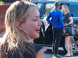 Please contact X17 before any use of these exclusive photos - x17@x17agency.com   Newly single Kate Hudson gets dropped at her place with wet hair by a mystery friend  jan 17, 2015 X17online.com