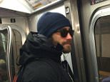 *** Not available for subscription clients until after 22.00 on 210115 *** EXCLUSIVE ALLROUNDERJake Gyllenhaal tries to remain unrecognisable whilst riding the New York subway Featuring: Jake Gyllenhaal Where: New York, United States When: 20 Jan 2015 Credit: WENN.com **Not available for publication in USA**