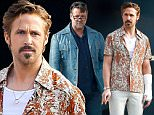 """Los Angeles, CA - Ryan Gosling and Russell Crowe get into character, dressed up in their 1970's outfits as they film scenes for their movie, """"The Nice Guys"""" in L.A.  It looks like the two were leaving a court house and Ryan donned a cast on his arm and Russell had a newspaper in hand.\n  \nAKM-GSI       January 21, 2015    \nTo License These Photos, Please Contact :\nSteve Ginsburg\n(310) 505-8447\n(323) 423-9397\nsteve@akmgsi.com\nsales@akmgsi.com\nor\nMaria Buda\n(917) 242-1505\nmbuda@akmgsi.com\nginsburgspalyinc@gmail.com"""