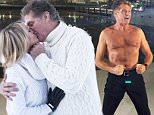 PIC FROM CATERS NEWS - PICTURED: - David Hasselhoff and his fiancee Hayley Roberts in Levi, finnish lapland. David is in Finland to make a series of his talk show for a finnish television network. In lapland he told that he might bring Hayley back to Levi again next christmas and arrange their wedding here. **NOT FOR SALE/USE IN FINLAND AND GERMANY**