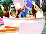 EXCLUSIVE: Victoria's Secret supermodels Alessandra Ambrosio and Lily Aldridge were all smiles, putting their hands in the air as they rode the teacups at Disneyland with their kids Noah and Dixie.   Pictured: Alessandra Ambrosio, Lily Aldridge, Noah Ambrosio Mazur and Dixie Followill Ref: SPL931463  200115   EXCLUSIVE Picture by: Sharpshooter Images / Splash  Splash News and Pictures Los Angeles: 310-821-2666 New York: 212-619-2666 London: 870-934-2666 photodesk@splashnews.com