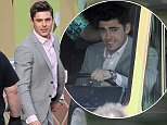 Picture Shows: Zac Efron  January 20, 2015    Actors Zac Efron and Robert De Niro film a comedic scene inside an ice cream truck alongside actors Jason Mantzoukas and Dermot Mulroney for their new movie 'Bad Grandpa' filming in Atlanta, Georgia. During the scene 'Senior Frio' Jason Mantzoukas is yelling at Zac to drive while Dermot Mulroney tries to get on the truck before getting tasered by De Niro.    Exclusive All Rounder  UK RIGHTS ONLY  Pictures by : FameFlynet UK    2015  Tel : +44 (0)20 3551 5049  Email : info@fameflynet.uk.com