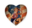 pin up american flag
