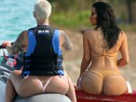 EXCLUSIVE: ***PREMIUM EXCLUSIVE***Kim Kardashian shows off her famous booty in a nude-coloured bikini on a photo shoot in Thailand. Pix taken March 31.\n\nPictured: Kim Kardashian\nRef: SPL733877  070414   EXCLUSIVE\nPicture by: Brian Prahl / Splash News\n\nSplash News and Pictures\nLos Angeles:310-821-2666\nNew York:212-619-2666\nLondon:870-934-2666\nphotodesk@splashnews.com\n