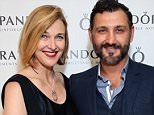 BEVERLY HILLS, CA - AUGUST 23:  Actress Brenda Strong and Director John Farmanesh-Bocca attend the HBO Luxury Lounge featuring PANDORA at Four Seasons Hotel Los Angeles at Beverly Hills on August 23, 2014 in Beverly Hills, California.  (Photo by Rochelle Brodin/Getty Images for Mediaplacement)