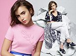 Lily Collins photographed by Karl Lagerfeld for the ss2015 collection of Barrie