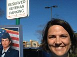 """MUST LINK BACK: http://www.wect.com/story/27885350/veteran-slammed-with-nasty-note-for-parking-in-reserved-spot  WILMINGTON, NC (WECT) - When Mary Claire Caine walked outside after finishing her routine grocery trip to Harris Teeter Friday, she couldn't believe what she found plastered to the front window of her car.  MORE Harris Teeter reaching out to veteran who found nasty note on her car  A Harris Teeter spokeswoman says the company is reaching out to the Air Force veteran who found a nasty note on her car that was parked in a space reserved for former service members.  After she finished unloading her groceries last week outside one of the chain's Wilmington stores, Mary Claire Caine found the note plastered to the front window of her car.  Continue reading >> As a veteran of the Air Force who served in Kuwait and on the flight line of the F-117 Nighthawk, Caine felt proud to park in the reserved """"Veteran Parking"""" spaces at the grocery store chain when she did her shopping. Her t"""