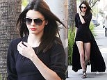 21.JAN.2015 - LOS ANGELES - USA KENDALL JENNER ROCKS A LONG BLACK OUTFIT AFTER HAVING LUNCH WITH SCOTT DISICK AT NATE N' AL. LATER THEY HEADED TO SAINT LAURENT FOR SOME SHOPPING IN BEVERLY HILLS BYLINE MUST READ : XPOSUREPHOTOS.COM *AVAILABLE FOR UK SALE ONLY* ***UK CLIENTS - PICTURES CONTAINING CHILDREN PLEASE PIXELATE FACE PRIOR TO PUBLICATION *** *UK CLIENTS MUST CALL PRIOR TO TV OR ONLINE USAGE PLEASE TELEPHONE 0208 344 2007*