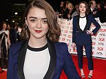 Actrtess Maisie Williams poses for photographers upon arrival at the National Television Awards in London, Wednesday, Jan. 21, 2015. (Photo by Joel Ryan/Invision/AP)