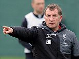 LIVERPOOL, ENGLAND - JANUARY 22:  (THE SUN OUT, THE SUN ON SUNDAY OUT) Brendan Rodgers manager of Liverpool in ation during a training session at Melwood Training ground on January 22, 2015 in Liverpool, England.  (Photo by John Powell/Liverpool FC via Getty Images)