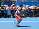 Melbourne Australian Open Tennis Championships 24/1/2015 Andy Murray Practice session Saturday  Picture Dave Shopland