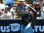 Venus Williams of the US celebrates her win against Camila Giorgi of Italy during the women's singles on day six of the 2015 Australian Open tennis tournament in Melbourne on January 24, 2015. AFP PHOTO / MAL FAIRCLOUGH -- IMAGE RESTRICTED TO EDITORIAL USE - STRICTLY NO COMMERCIAL USEMAL FAIRCLOUGH/AFP/Getty Images