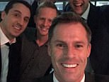 Jamie Carragher posted a selfie with Gary Neville and co after the show on Monday night