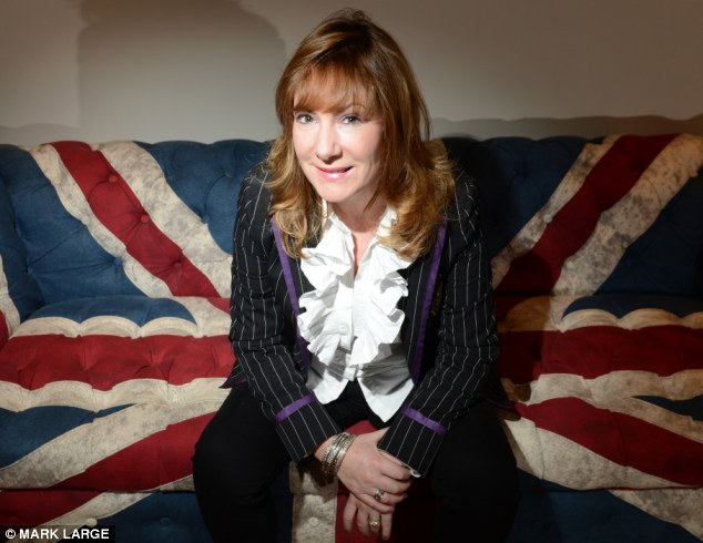 Attacking: Janice Atkinson, UKIP's press advisor who also claims '90 per cent of cash machine crime is committed by Romanian gangs and drug and gun crime is mainly run by Eastern Europeans', also made a comment about the body size of one of the activists