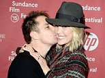 """PARK CITY, UT - JANUARY 26:  Actors Sam Rockwell (L) and Leslie Bibb attend """"Digging For Fire"""" premiere during the 2015 Sundance Film Festival on January 26, 2015 in Park City, Utah.  (Photo by George Pimentel/Getty Images for Sundance)"""