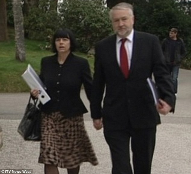 Bereaved: Sharon and Steve Cowburn, Ben's parents, are pictured arriving at the inquest a week ago