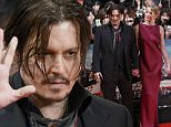 """Actors Johnny Depp and Amber Heard attend the Japanese premiere of """"Mortdecai"""" in Tokyo January 27, 2015. The movie will be shown in Japan from February 6. REUTERS/Yuya Shino (JAPAN - Tags: ENTERTAINMENT)"""