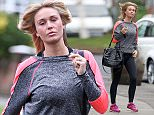 PICTURE BYLINE --- Pete Goddard / optimusimages.co.uk PICTURES SHOW --- WAG Alex Gerrard wife of Liverpool player Stephen Gerrard who will soon be playing in L.A for the L.A Galaxy seen in Liverpool at her favourite hair dressers dressed in her gym outfit. DATE --- 28-01-2015 ****NOTICE, NO WEB OR TV USAGE WITHOUT PRIOR AGREEING A FEE**** ****Please Email - pictures@optimusimages.co.uk or visit  -  www.optimusimages.co.uk****