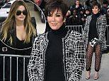 Kris Jenner attends Chanel Fashion Show in Paris as part of Paris Fashion Week.  Pictured: Kris Jenner Ref: SPL936911  270115   Picture by: KCS Presse / Splash News  Splash News and Pictures Los Angeles: 310-821-2666 New York: 212-619-2666 London: 870-934-2666 photodesk@splashnews.com