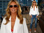 AUCKLAND, NEW ZEALAND - JANUARY 29:  Heidi Klum arrives for the 2015 NRL season launch at Shed 10 on January 29, 2015 in Auckland, New Zealand.  (Photo by Phil Walter/Getty Images)