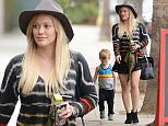 Makeup free Hilary Duff wearing a felt hat and a short black skirt, takes son Luca Comrie to Pint Size Kids Featuring: Hilary Duff, Luca Comrie Where: Los Angeles, California, United States When: 28 Jan 2015 Credit: WENN.com
