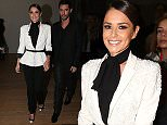 Cheryl Cole and her husband at the Ralph & Russo show at the Grand Palais, during the Fashion Week Haute Couture Spring/SUmmer 2015-2016.  Pictured: Cheryl Cole, Jean- Bernard Fernandez-Versini Ref: SPL938488  290115   Picture by: KCS Presse / Splash News  Splash News and Pictures Los Angeles: 310-821-2666 New York: 212-619-2666 London: 870-934-2666 photodesk@splashnews.com