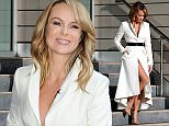 Picture Shows: Amanda Holden  January 29, 2015\n \n 'Britain's Got Talent' judge Amanda Holden is spotted flaunting a bit of leg as she leaves the Lowry Hotel in Manchester, UK.\n \n The 43-year-old, in town to film the Manchester audition show, turned heads in her white belted coat which revealed her toned legs as she left the hotel.\n \n Amanda is not one to shy away from a daring outfit, having recently ventured to the 'National Television Awards' on the London Underground in a cleavage-baring gown.\n \n Non-Exclusive\n WORLDWIDE RIGHTS\n Pictures by : FameFlynet UK © 2015\n Tel : +44 (0)20 3551 5049\n Email : info@fameflynet.uk.com